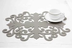Laser cut table mat by AA living 3d Printing, Metal, Frame, Modern, Prints, Table, Home Decor, Ideas, Impression 3d