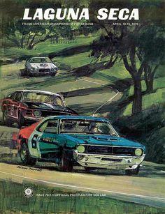 1970 Laguna Seca - Trans Am Championship for Sedans - Promotional Poster Le Mans, Volkswagen Touran, Automobile, Amc Javelin, Motorcycle Camping, American Motors, Car Posters, Poster Poster, Pony Car