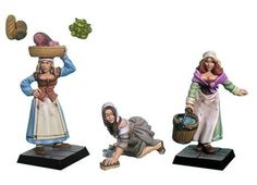 FRP GAMES - PRODUCT - Fenryll Miniatures: Female Villagers (3)