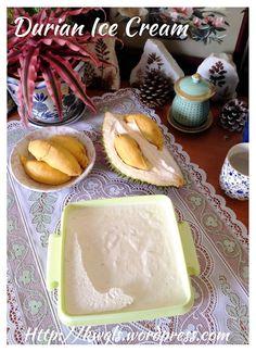 Durian ice cream. No machine