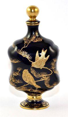 Rare Antique 19th C, COALPORT Perfume Bottle, Aesthetic Movement, c1870/80