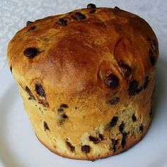 receita de chocotone fofinho Coco, Muffin, Banana, Bread, Breakfast, Churros, Foods, Tasty Food Recipes, Delicious Recipes