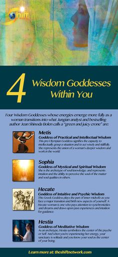 Over 50? Discover the 4 Wisdom Goddesses Within You & Liberate Your Truest Self: By getting to know the Goddesses within you, you can become more conscious, than you would have been, of your true potentials. Giving these energies your attention, you help energize them. Read more about Sophia, Hecate, Hestia and Metis at…