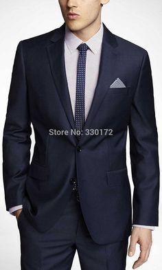 2014Custom Made NAVY MICRO TWILL Suits & Suit Separates Slim Fit Groom Tuxedos Best Man Suit Wedding Groomsman/Men Bridegroom on Aliexpress.com | Alibaba Group