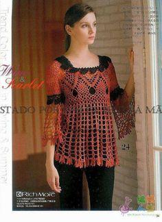 Linda Top free crochet graph pattern