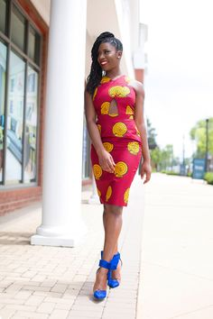 prissyville-african-print-dress ~Latest African Fashion, African Prints, African fashion styles, African clothing, Nigerian style, Ghanaian fashion, African women dresses, African Bags, African shoes, Nigerian fashion, Ankara, Kitenge, Aso okè, Kenté, brocade. ~DKK