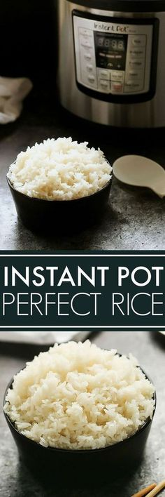 With these easy tips youll see its simple to learn how to cook perfect rice in the Instant Pot with minimal measuring The result is fluffy and flavorful rice thats easy t. Power Pressure Cooker, Pressure Pot, Instant Pot Pressure Cooker, Pressure Cooking Recipes, Slow Cooker Recipes, Crockpot Recipes, Cooking Rice, Cooking Bacon, Cooking Lamb