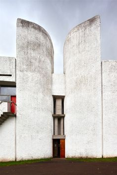 Chapel at Ronchamp/ Notre Dame du Haut. Le Corbuser. Ronchamp, France. 1954