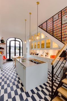 Fun And Colourful Eclectic Paris Apartment - Gravity Home House Design, Gravity Home, Kitchen Under Stairs, Home, Paris Apartments, Kitchen Decor, Home Kitchens, Stairs In Kitchen, Kitchen Design