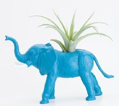 Make a planter out of rubber animals/toys and paint it....My Crafty Home Life