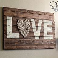 DIY Wood Wall Art I needed something fun to hang above my couch. I used some scrap wood to make a sign that would fit the space perf...#/458411/diy-wood-wall-art?&_suid=1357914255282017853317606539892