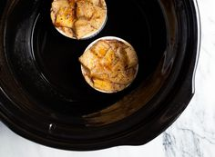 Crockpot bread pudding for two