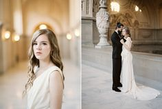 Romantic City Hall Elopement Portraits // Photography ~ Lara Lam