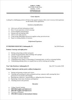 Janitorial Resume Sample Resume Examples Over 50  Pinterest  Customer Service Resume .