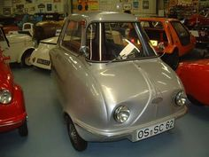 1962 Scootacar Mk II. In 1961, a 250 cc twin has fitted to about 50 cars, but few customers were willing to brave the 62 mph white-knuckle ride.