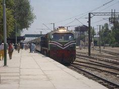 Train at Sahiwal Station, Pakistan Railways