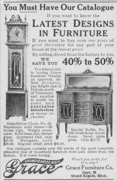 Grace Furniture Co Grand Rapids Michigan Was A Company That Sold Directly