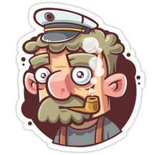 """Captain"" Stickers by Eveny Polukhin 