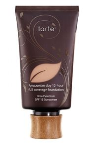 12hr coverage, SPF 15, sweatproof, eliminates pores, & provides great coverage!! The BEST foundation there is!!