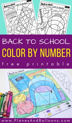 Your E-Organization - Employ An Accountant Or Do It Yourself Free Printable Color By Number Worksheets For Preschool And Kindergarten. Fun Color By Number Printables For Fall. Back To School Worksheets, Number Worksheets Kindergarten, Beginning Of Kindergarten, Beginning Of School, Kindergarten Activities, Pre School, Summer School, Kid Activities, Educational Activities
