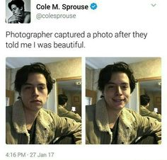 we can see your reflection Cole