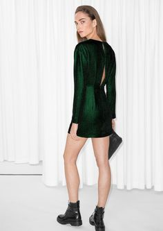 & Other Stories image 2 of Slit Back Dress in Green