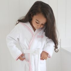 Personalized Pink Gingham Robe