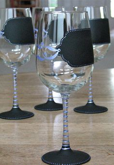 Tag... You're it!  chalkboard wine glasses from chic chalk designs