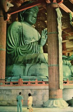 Buddha Vairochana, at Todai-ji, Nara, Japan. One of the first Buddha statue in Japan. Todai-ji Temple, Zen, Buddha Buddhism, To Infinity And Beyond, Religious Art, National Geographic, Amazing, Nara, Religion