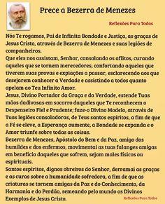 """""""Prece a Bezerra de Menezes"""" e breve história, com link para o vídeo >> acesse."""