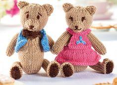 patrón original en inglés http://www.letsknit.co.uk/free-knitting-patterns/teddy-bears-picnic Cuerpo y Cabeza, Se tejen juntos...