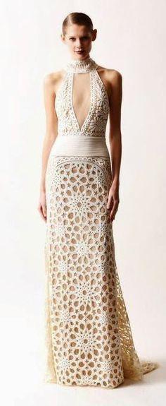 Ivelise Feito à Mão: Vestidos Lindos Em Crochê
