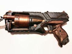 Steampunk hand painted gun LARP weapon gun Nerf от Gothianna