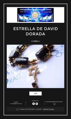ESTRELLA DE DAVID DORADA