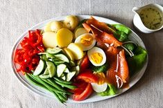 Not-Quite Niçoise with Lime-Chive Cream Recipe on Food52 recipe on Food52
