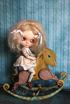 The sunshine horse by Rebeca Cano ~ Cookie dolls, via Flickr