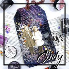 Terrific tag from Embossing Powder, Artist Painting, Cosmopolitan, Paper Dolls, Cardmaking, Mixed Media, Scrapbooking, Stamp, Watercolor