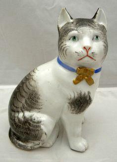 Japanese Kutani Porcelain Okimono Cat | eBay