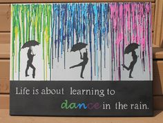 Melted Crayon Art with Quote by Creativecrafts4sale on Etsy