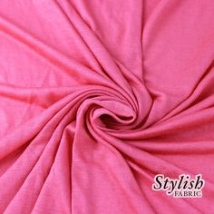 BRIGHT CORAL Rayon Jersey Knit Fabric Coral Tissue Knit Fabric by the yard Apparel Dress Shirt Arts and Crafts Fabric - 13237