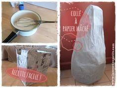 Recette du papier mâché |La cour des petits Simple, économique et 100% saine pour les enfants http://www.lacourdespetits.com/recette-papier-mache/ #papier #mache #colle