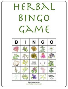 This is so cute! Free 10 page download of Herbal Bingo.