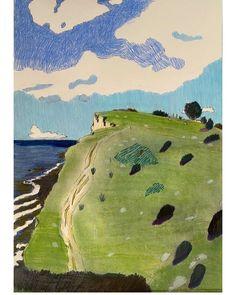Oil Pastel Techniques, Ocean Quilt, Love Illustration, Triptych, Art Pictures, Creative Art, Art Inspo, Painting & Drawing, Landscape Paintings