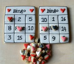 Valentine's Day cookie bingo - delicious and fun