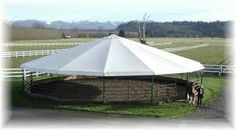 Keep the harsh elements out of your working area with Equine Concepts' Round Pen Cover