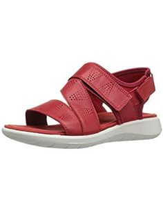 ECCO Womens Cross Sandal Tomato. ** Click image to review more details. (This is an affiliate link) #Flats