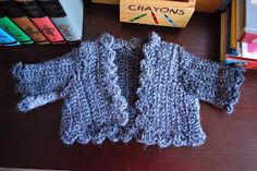 Crochet Kitten: Three Hour Baby Sweater    FREE PATTERN