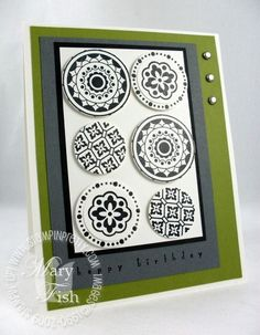 Stampin Up Masculine Cards | Stampin up circle circus masculine card