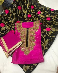 Designer suit wid worked salwar Price=3000₹ Fab=pure dupium top jeorjet salwar pure duptta Style=unstiched punjabi patiala suit wid beautiful hand work on neck wid beautiful worked jeorjet salwar wid pure duptta For oder call or watsap on 8699160456 Shippinga available worldwide