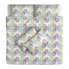 MALIN RUND Quilt cover and 4 pillowcases - 240x220/50x80 cm - IKEA